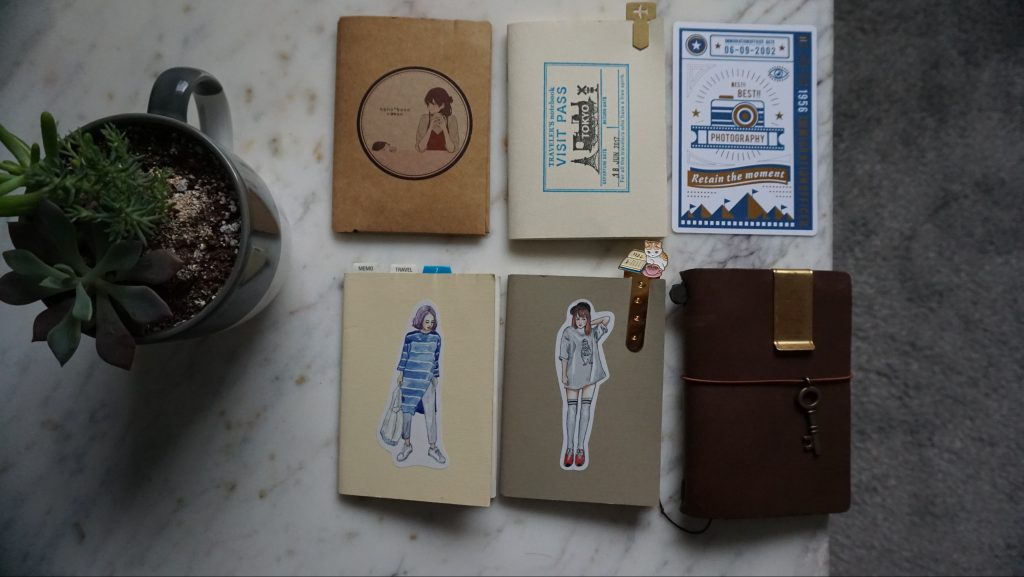 Notebooks inside my passport travelers notebook